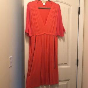 Woo coral summer dress